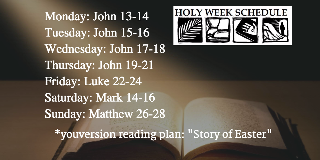 Holy Week reading plan